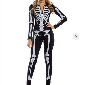 Skeleton Bodysuit Zip front closure
